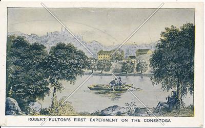 Fulton's Expirmental Boat on the Conestoga