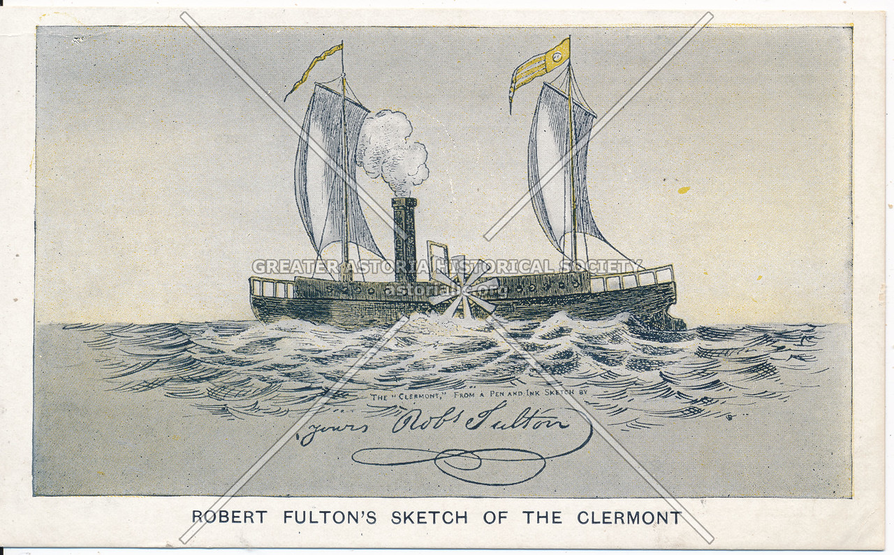 Fulton's sketch of Clermont