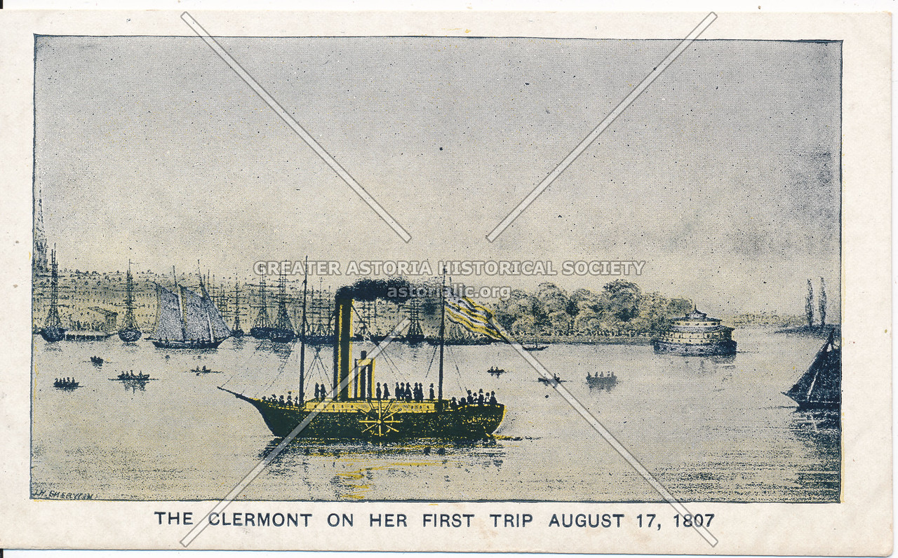 Clermont on first trip (08/17/1807)