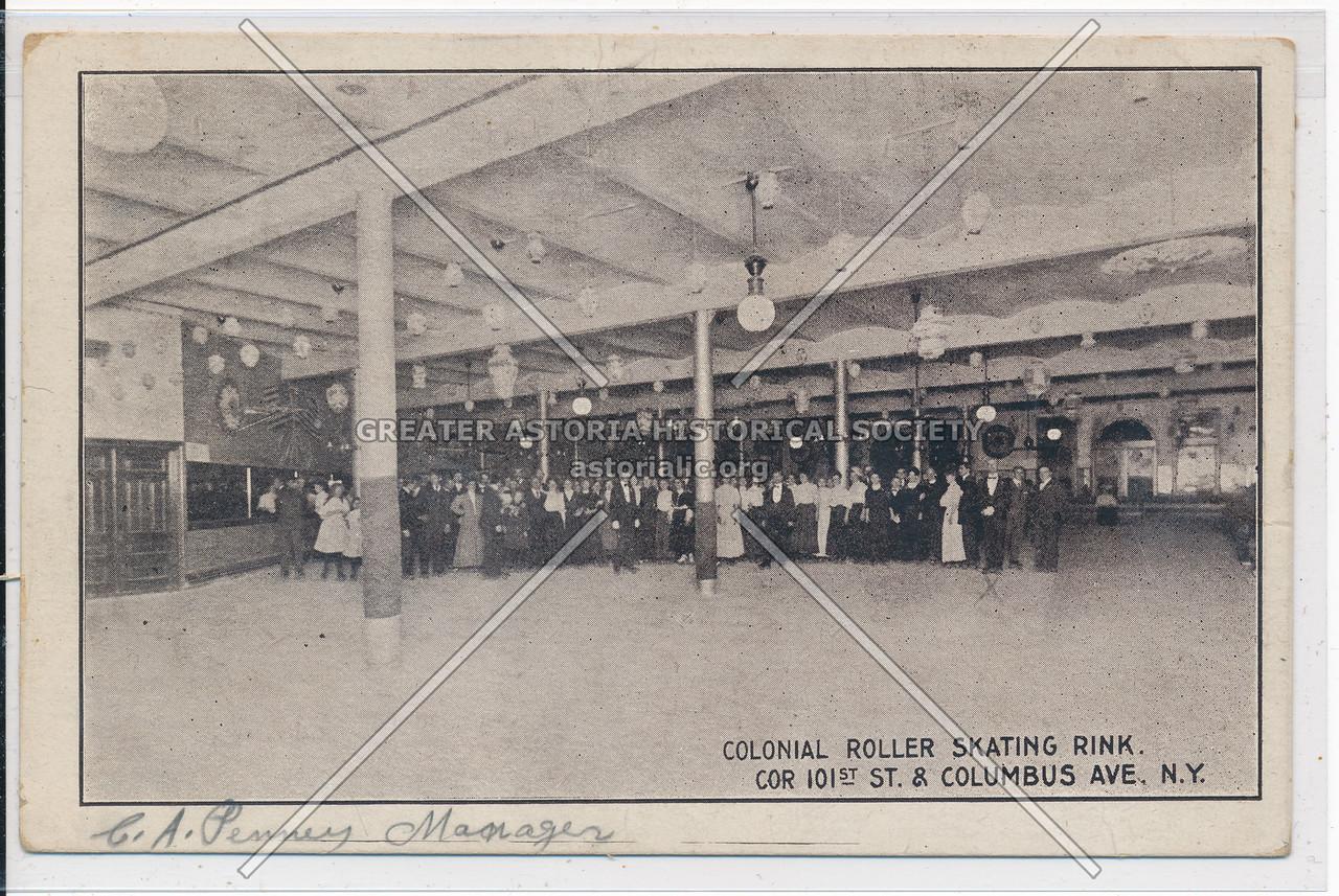 Colonial Roller Skating, cor 101 St & Columbus, NYC