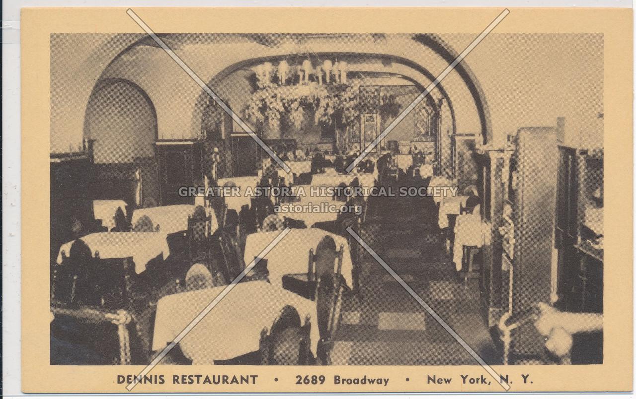 Dennis Restaurant, 2689, B'way, NYC