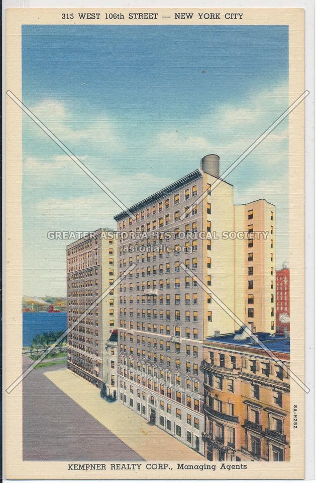 315 W 106 St, NYC