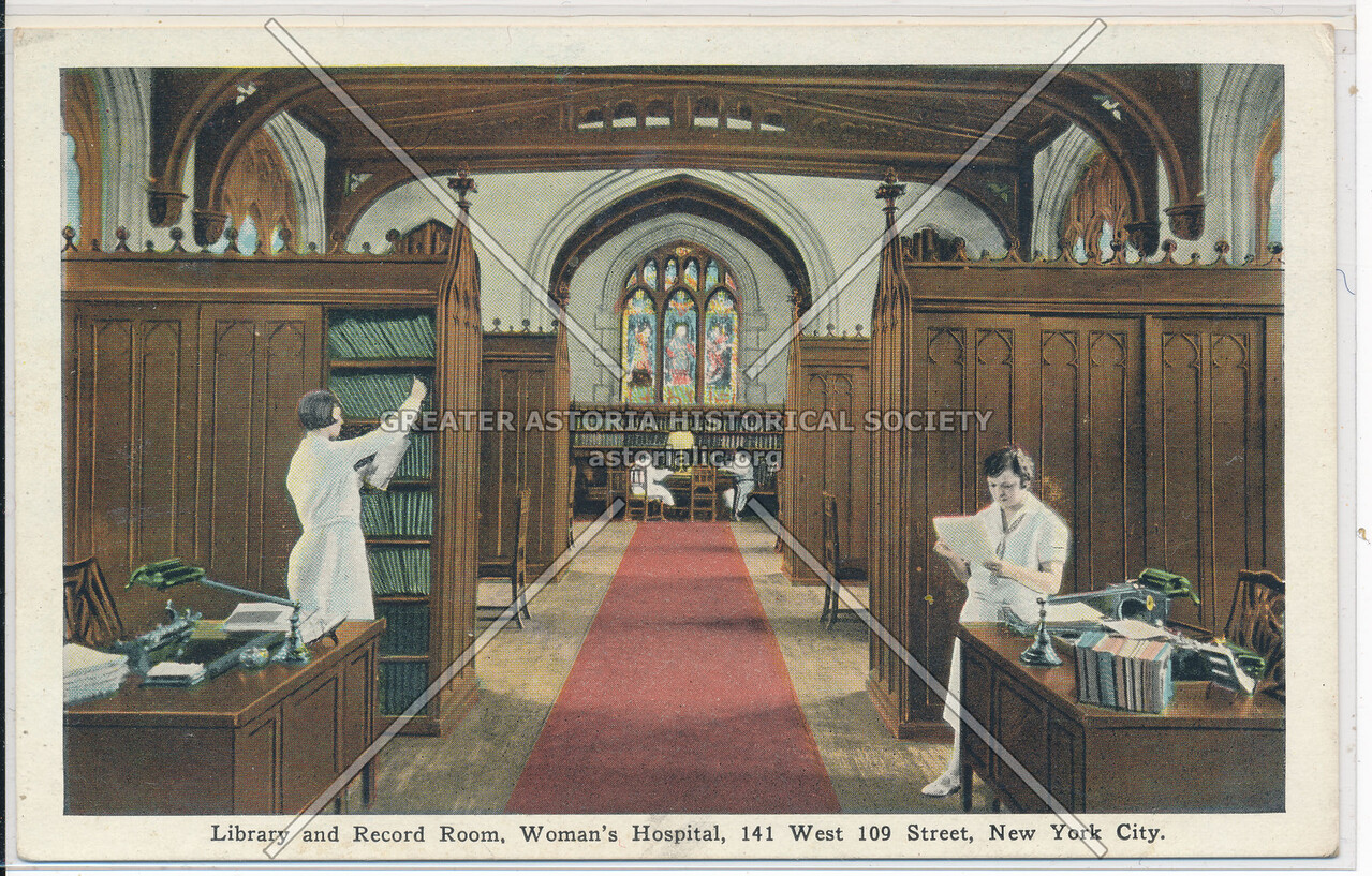 Reading Room, Women's Hospital, 141 W 109 St, NYC