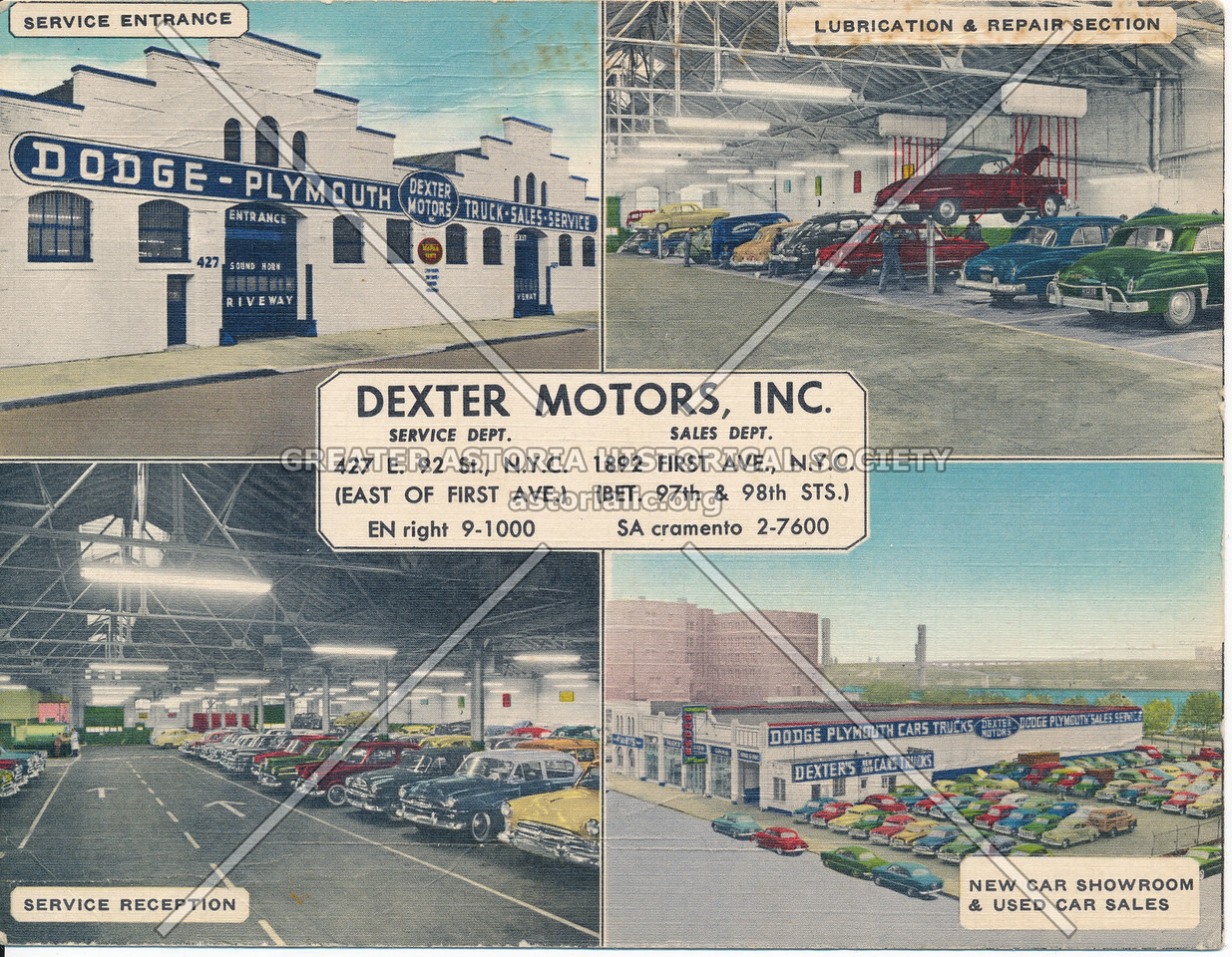 Dexter Motors, 427 E 92 & 1892 First Ave, NYC