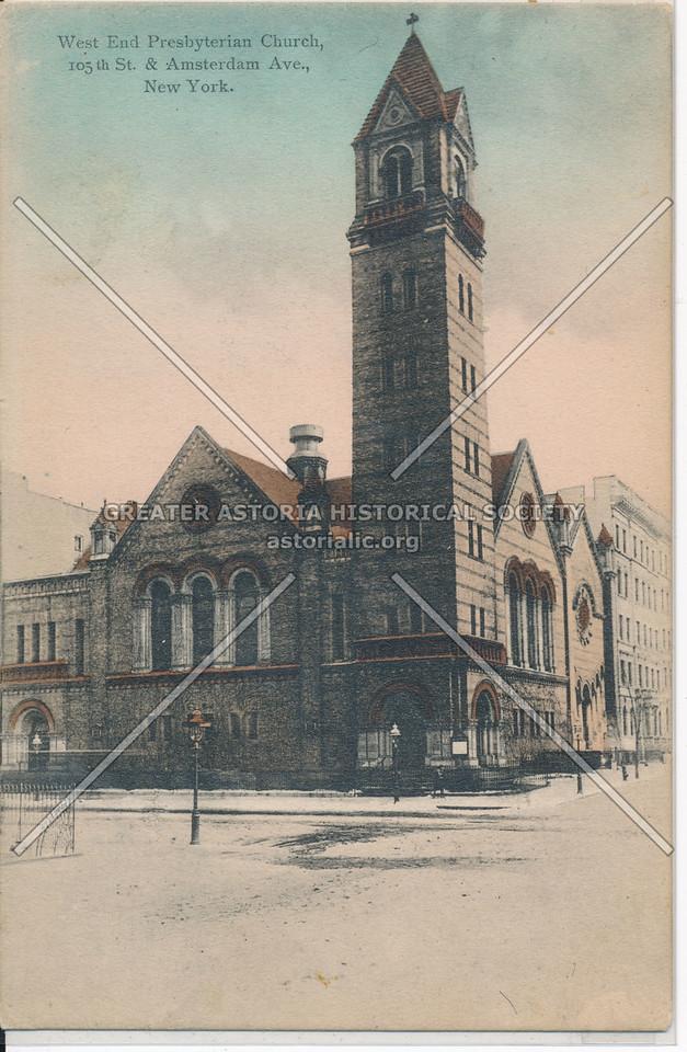 West End Presbyterian, 105 St & Amsterdam, NYC