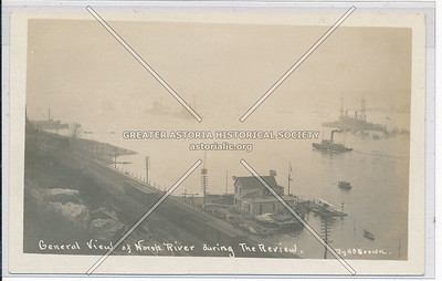 Naval Review on Hudson River (1911) - note airplane