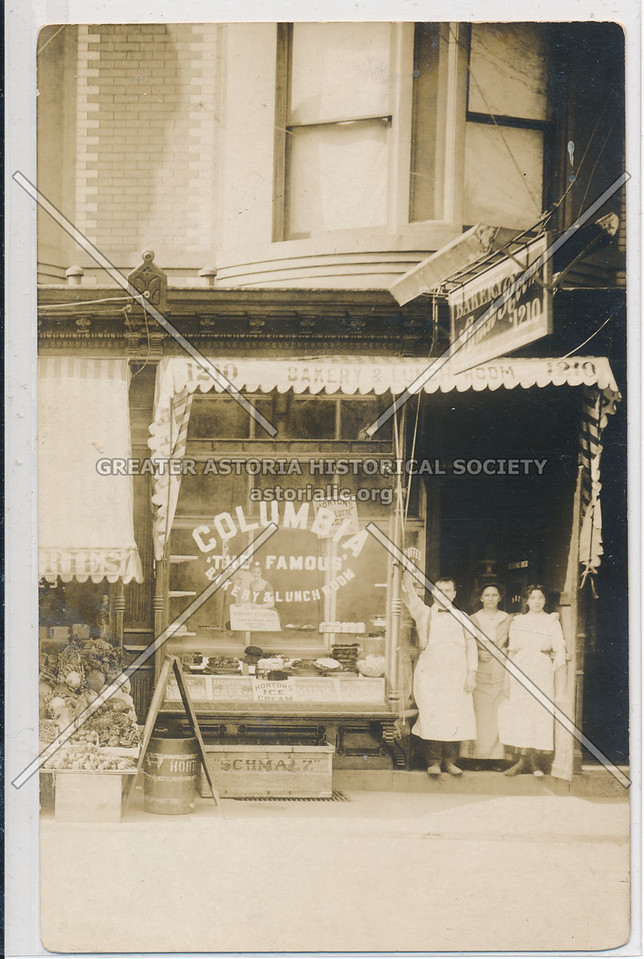 Columbia Bakery, 1210 ?, Morningside Heights, NYC (1917)