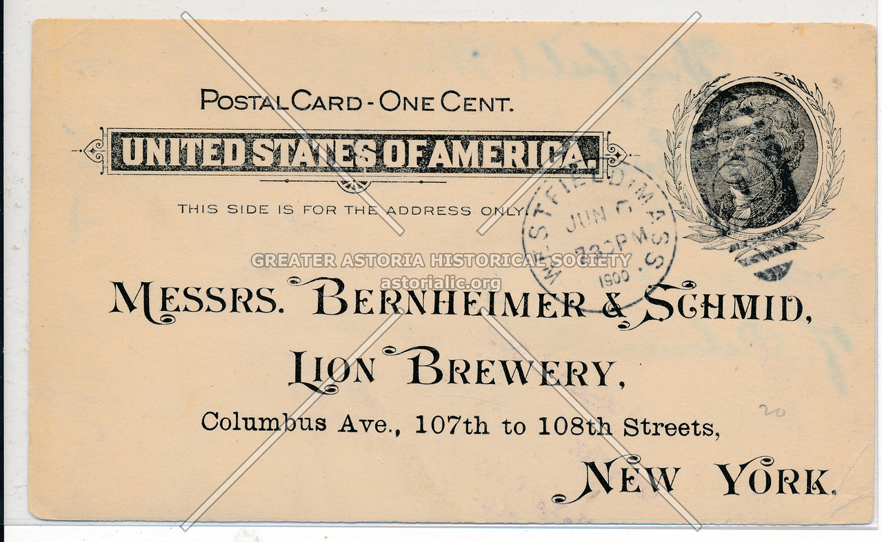 Lion Brewery, Columbus Av, !07 St, NYC