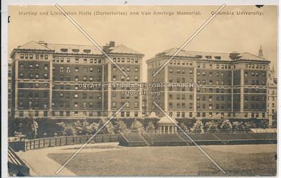 Hartley & Livingston Halls, & Van Amring. Columbia U, NYC
