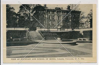 Fountain & School of Mines, Columbia U, NYC