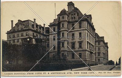 St Luke Hospital, 113 St & Amsterdam Ave, NYC