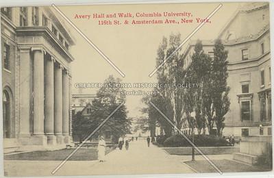 Avery Hall and Walk, Columbia U, NYC