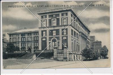 Philosophy  & Kent Hall, Columbia U, NYC