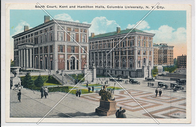 South Court, Kent and Hamilton Halls, Columbia U, NYC