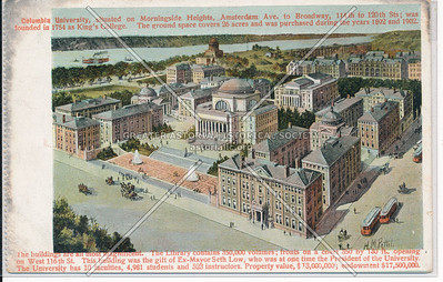 Aerial View of Columbia U, NYC