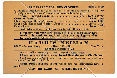 Harris Neiman Used Clothing, 119 St & 2 Ave, NYC