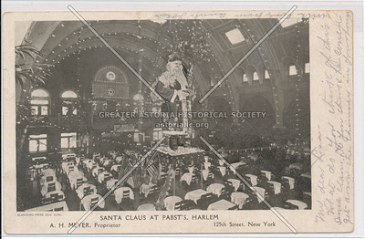 Santa Claus, Pabst Restaurant, 256 W 125 St, NYC