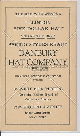 Danbury Hat Company, 31 W 125 St & 2334 8 Av, NYC