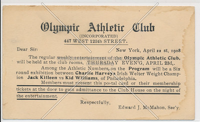 Olympic Athletic Club, 447 W 125 St, NYC (1908)