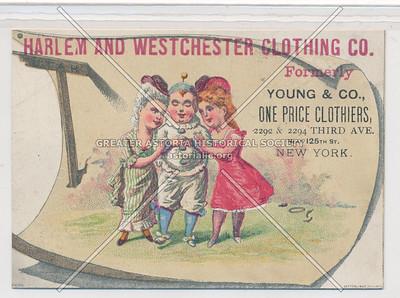 Harlem & Westchester Clothing Co, 3 Av & 125 St, NYC