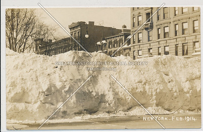 124 St & Mad. Ave Mt Morris Pk, NYC (Winter 1914)