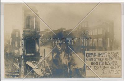 Cowperthwait & Sons, 3 Av & 121 St, NY (1907 Fire)