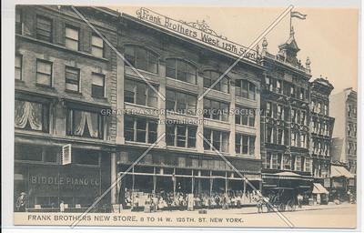 Frank Bros. Store, 14 W 125 St, NYC