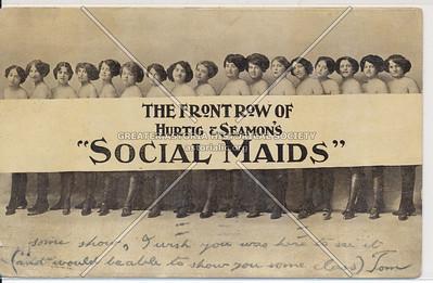 """""""Social Maids"""", Hurtig & Seamons, W 125 St, NYC (1911)"""