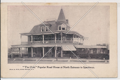 """""""The Club,"""" Popular Road House at N Entrance to Speedway. N.Y.C."""