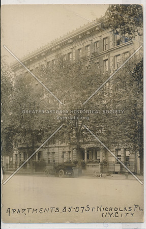 Apartments. 85-87 St. Nicholas Pl. N.Y.C.