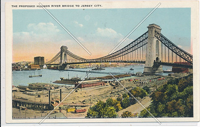 The Proposed Hudson River Bridge to Jersey City. N.Y.C.