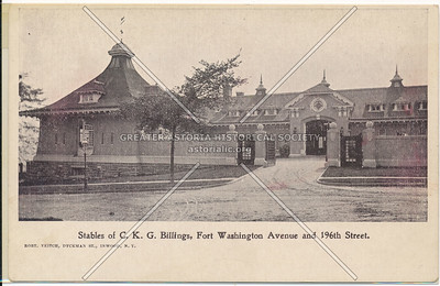 Stables of C.K.G. Billings, Ft. Washington ave. and 196th St.