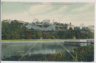 General View of Ft. George from across Harlem River, N.Y.C.
