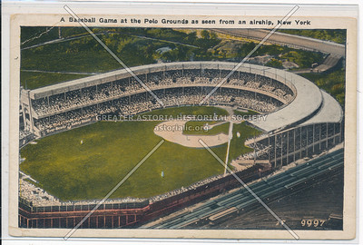 A Baseball Game at the Polo Grounds as seen from an airship, N.Y.C.