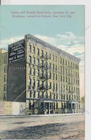 Solano and Monida Apartments, Dyckman St. and B'way, Inwood-on-Hudson, N.Y.C.