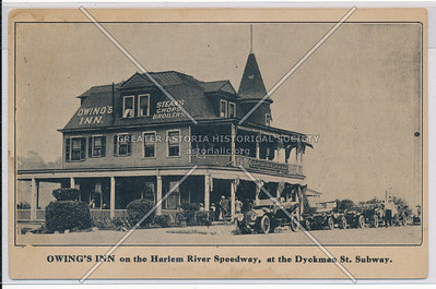 Owings Inn on the Harlem River Speedway, at the Dyckman St. Subway. N.Y.C.