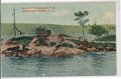 View of Ft. Washington Point, Washington Heights, N.Y.C.