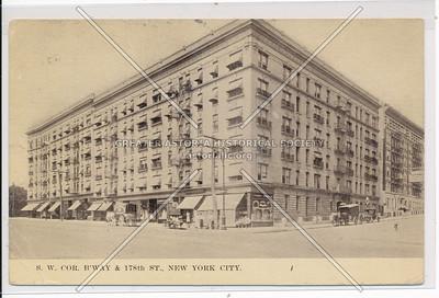 SW Cor. B'way & 178th St. N.Y.C.