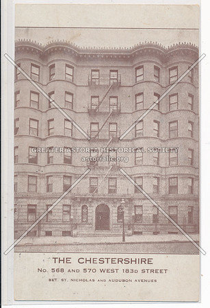 The Chestershire. No. 568 & 570 W 183rd St. N.Y.C.