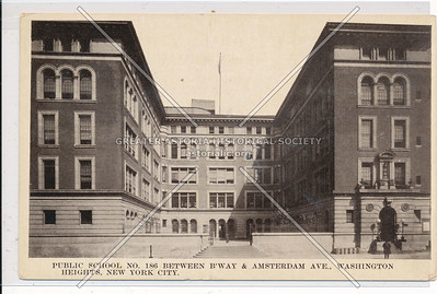 Public School No. 186 Between B'way & Amsterdam Ave., Washington Heights, N.Y.C.