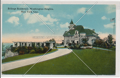 Bilings Residence, Washington Heights, N.Y.C.