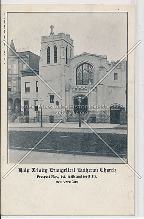 Holy Trinity Evangelical Lutheran Church. Prospect Ave. bet. 165th & 166th Sts. N.Y.C.