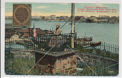Hamilton Monument, Hudson River & N.Y.C. in the distance, Weehawken N.J.