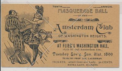 Tenth Masquerade Ball of the Amsterdam Club of Washington Heights. N.Y.C.