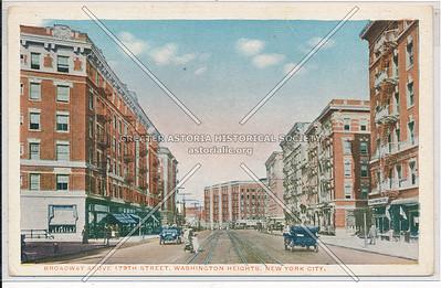 Bway above 179th St. Washington Heights, N.Y.C.