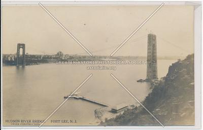 Hudson River Bridge under Construction. Fort Lee, N.J.