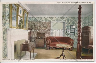 Lafayette Room, Where Lafayette Slept. Washington's Headquarters, N.Y.C.