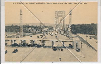 N.J. Entrance to G.W. Bridge Connecting NJ and NY.