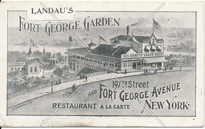 Landau's Ft. George Garden. 197th & Ft. George Ave., N.Y.C.