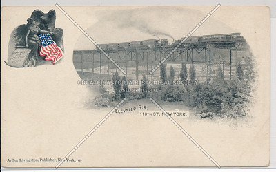Elevated R.R. 110th St. New York.